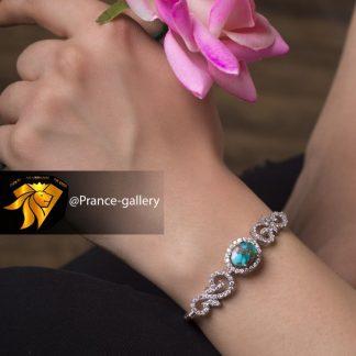 دستبند جواهری فیروزه اصل نیشابوری