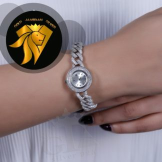 ساعت جواهری روکش طلا سفید