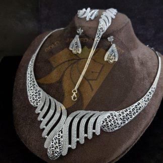 سرویس جواهری نقره طرح طلا