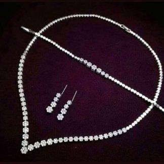 سرویس جواهری فلاوری نقره روکش طلا سفید