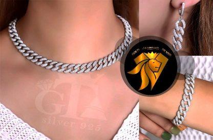 سرویس جواهری کارتیه روکش طلا سفید