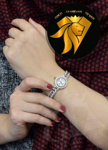 ساعت زنانه نقره درجه یک جواهری
