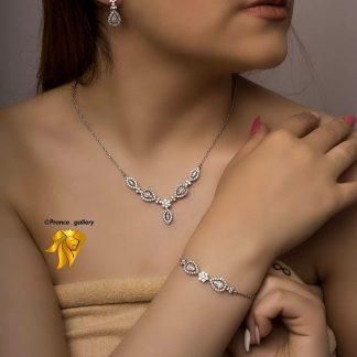 سرویس جواهری مدل گل نگین اتریشی