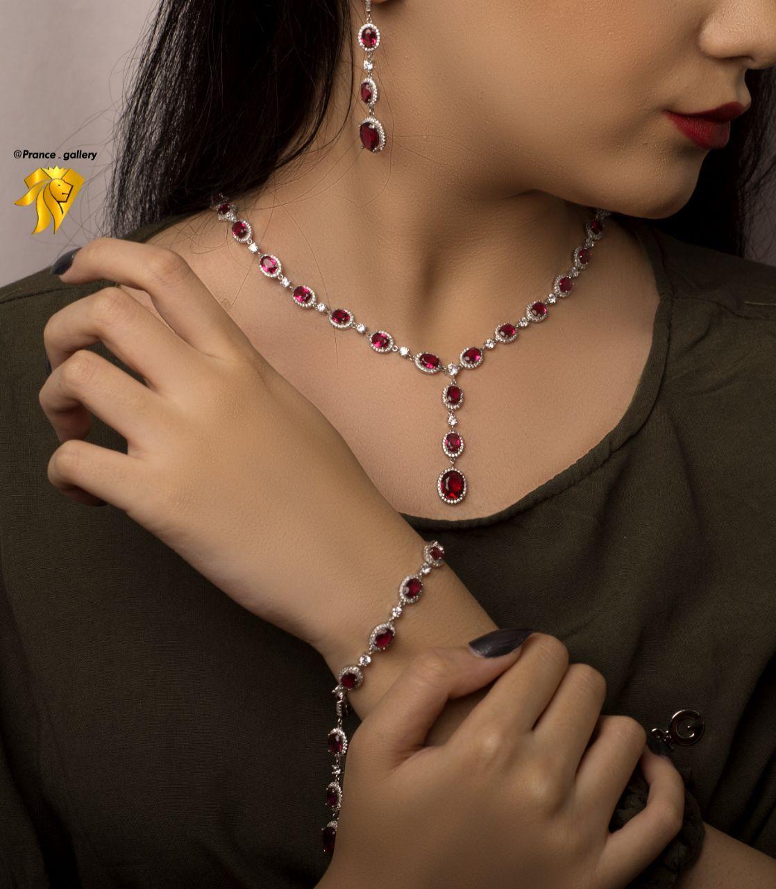 سرویس جواهری یاقوتی تک زیبا درجه یک
