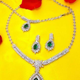 سرویس جواهری مارکیز زمرد سبز اتم اتریشی