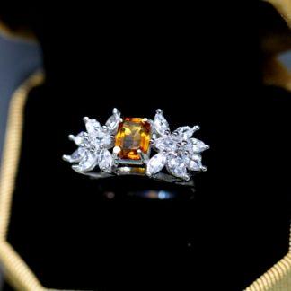 انگشتری جواهری مارکیز نگین اصل سیترین