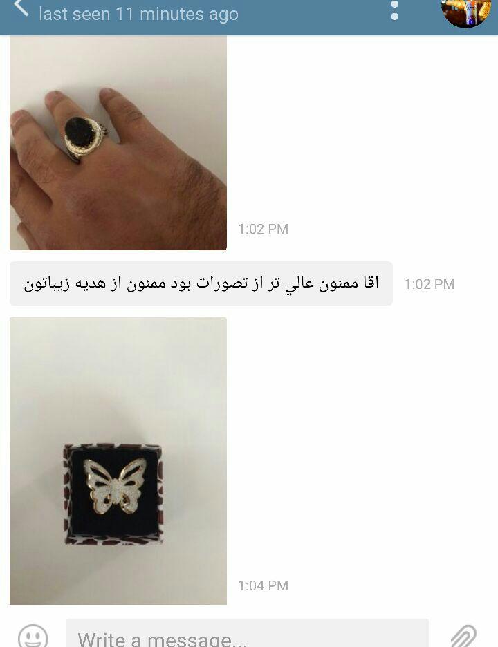 آقای مرادی - خرید انگشتر نقره مردانه نگین مشکی سنگ