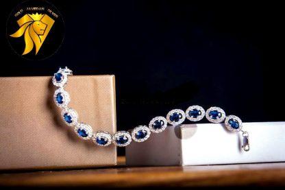 دستبند جواهری یاقوت کبود