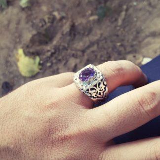 انگشتر فاخر جواهری برلیان شناسنامه دار