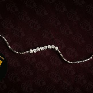 دستبند فلاوری جواهری نقره 925 عیار