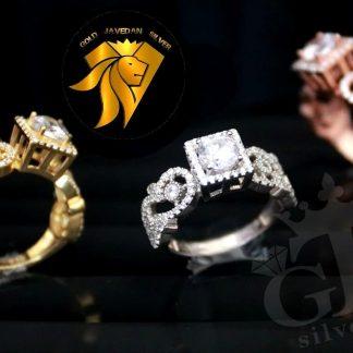 انگشتر فاخر نقره جواهری خاص