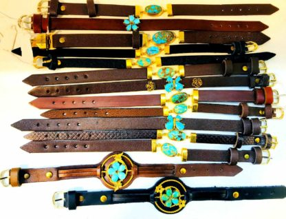 دستبندهای چرمی فیروزه اصل نیشابور با بهترین کیفیت