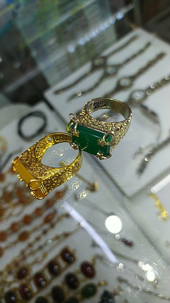 انگشترهای نقره 925 و روکش طلا مارک جاودانی