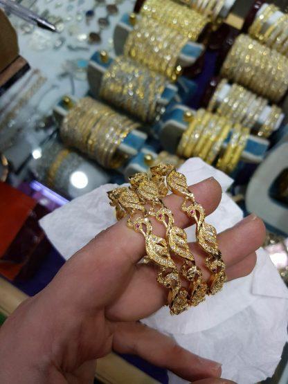 النگو طاووس طرح طلا