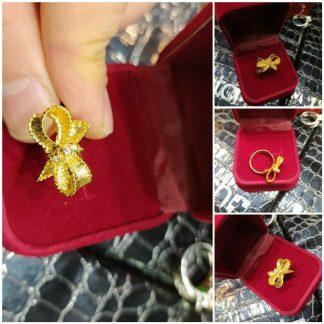 انگشتر پاپیونی نقره روکش طلا