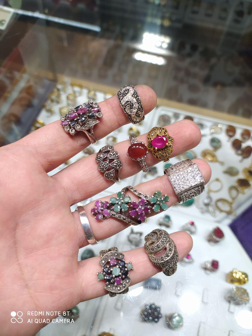 انگشترهای جواهر  تایلندی تعداد محدود