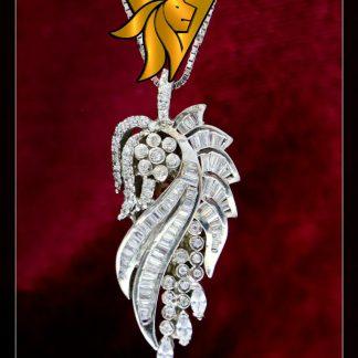 مدال جواهری تک دست ساز نقره روکش طلا وزن 9/8 گرم