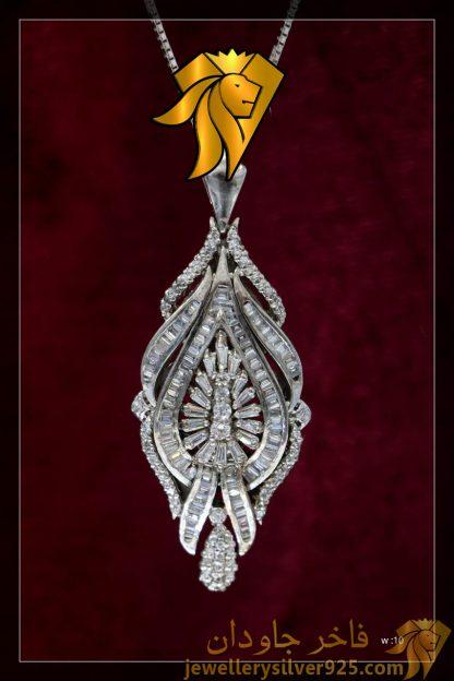 مدال جواهری تک دست ساز نقره روکش طلا وزن 10 گرم