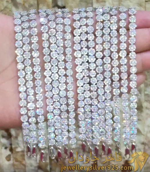 دستبند جواهری لیلیان پرنس طرح برلیان