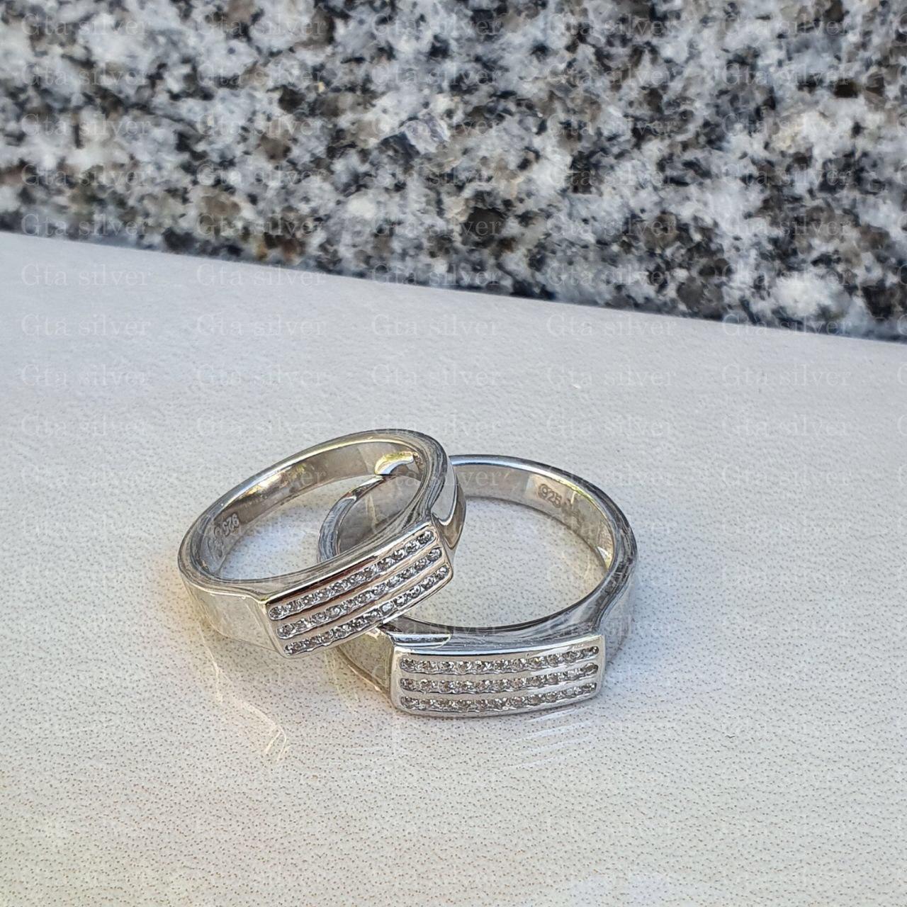 ست حلقه ازدواج وزن 8.5 گرم مدل 2
