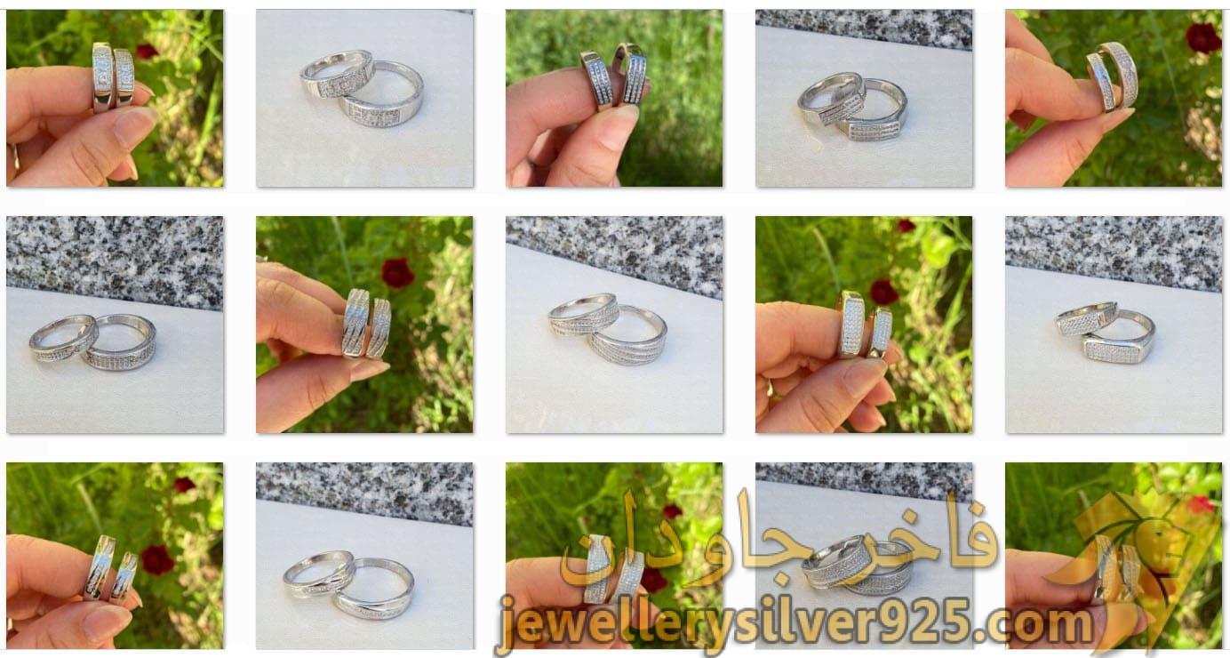 مجموعه 65 مدل ست حلقه ازدواج نقره آبکاری طلا