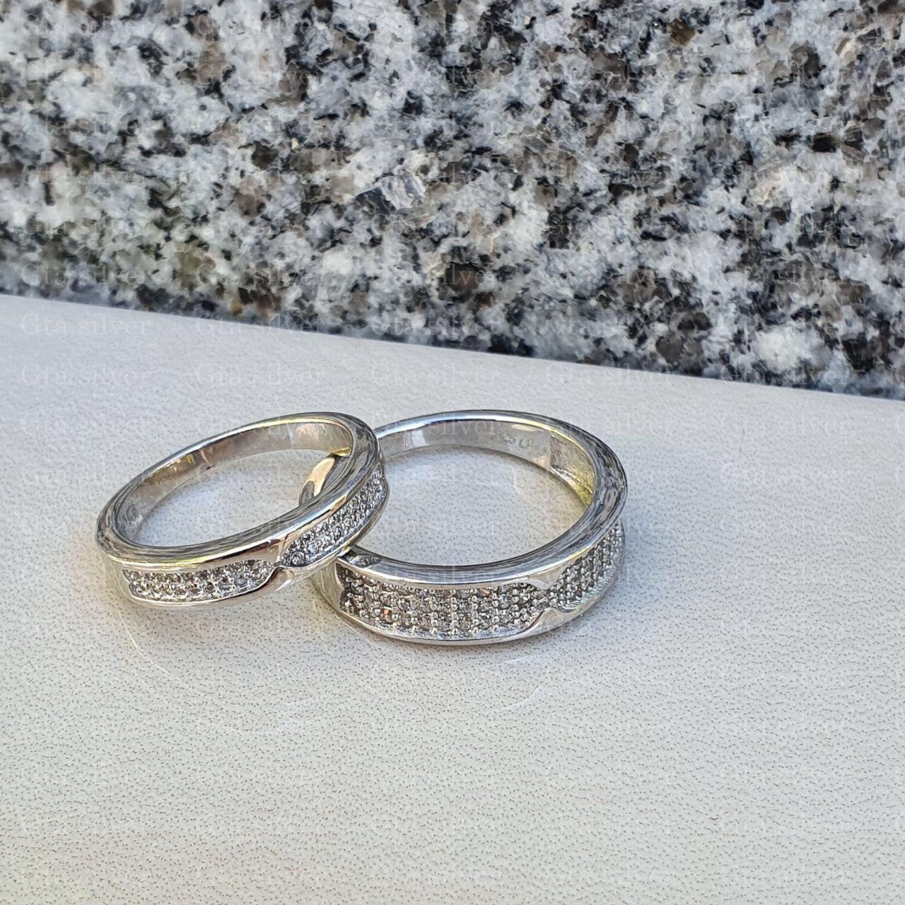 ست حلقه ازدواج وزن 8.5 گرم مدل 3