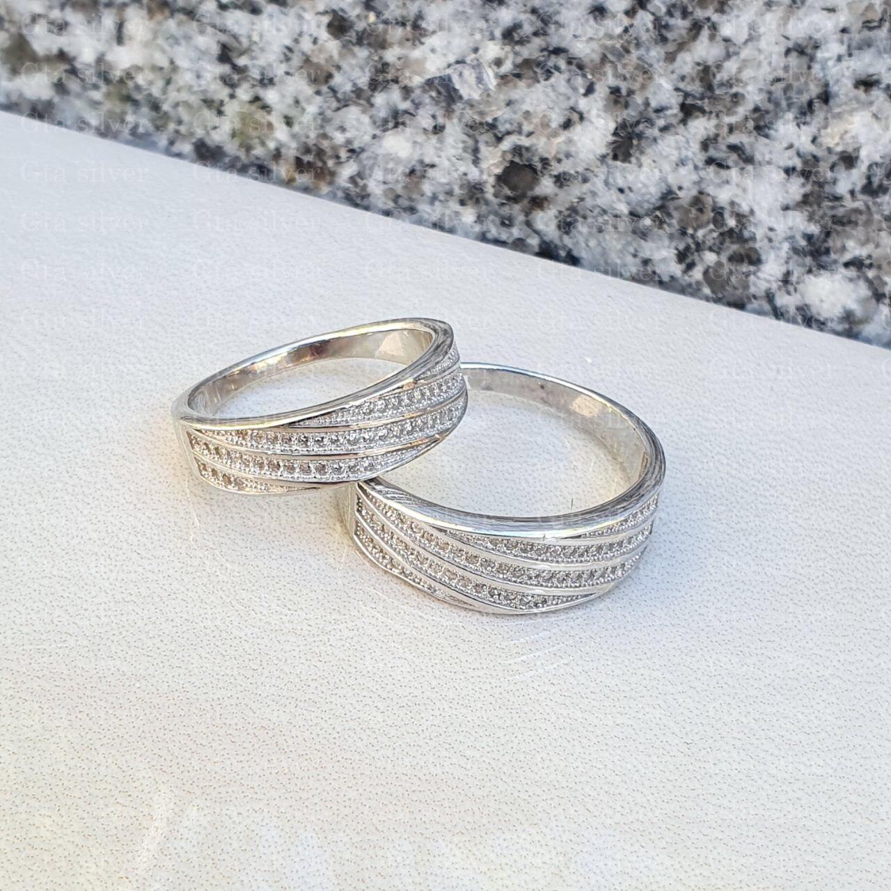ست حلقه ازدواج وزن 7.5 گرم مدل 4