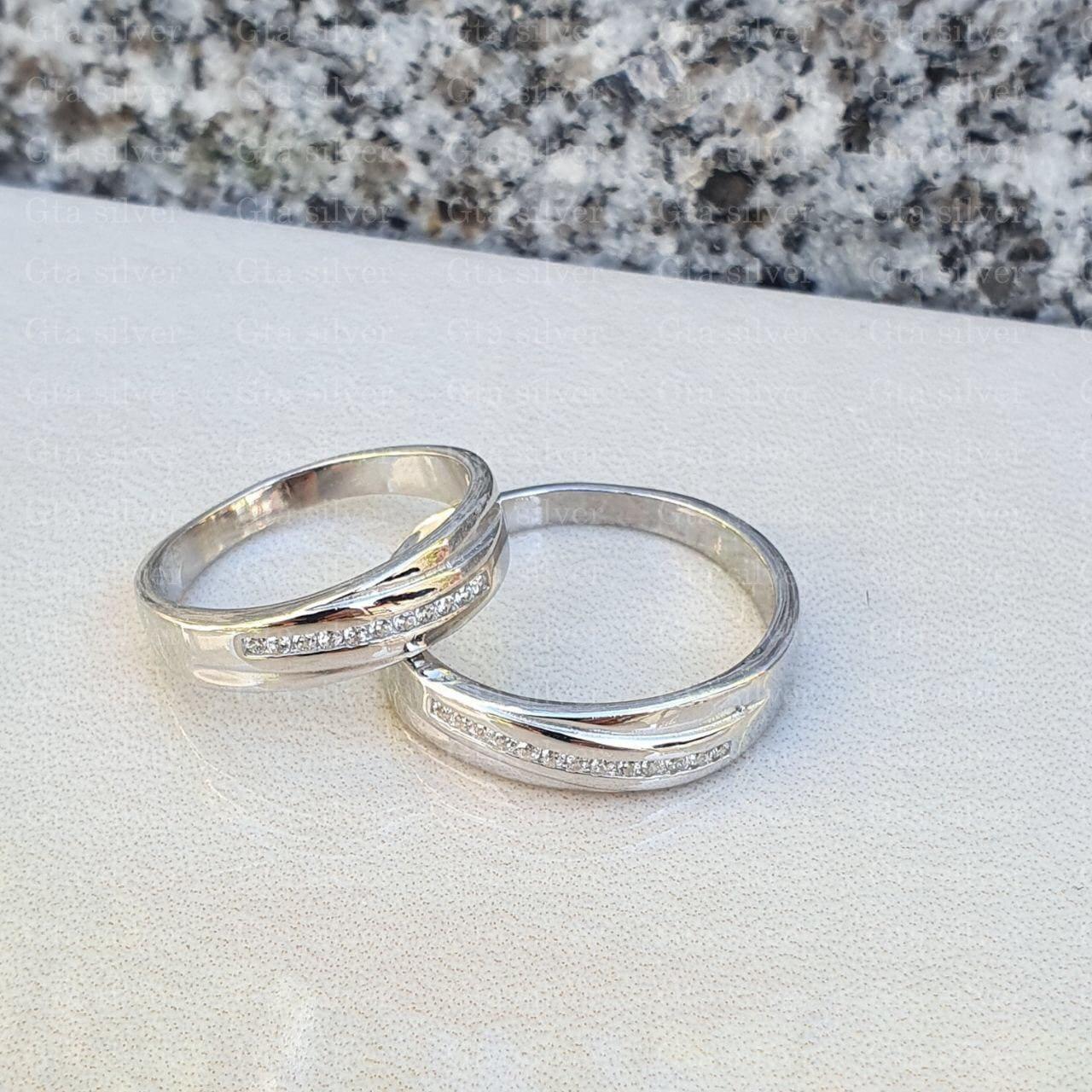 ست حلقه ازدواج وزن 6.5 گرم مدل 6