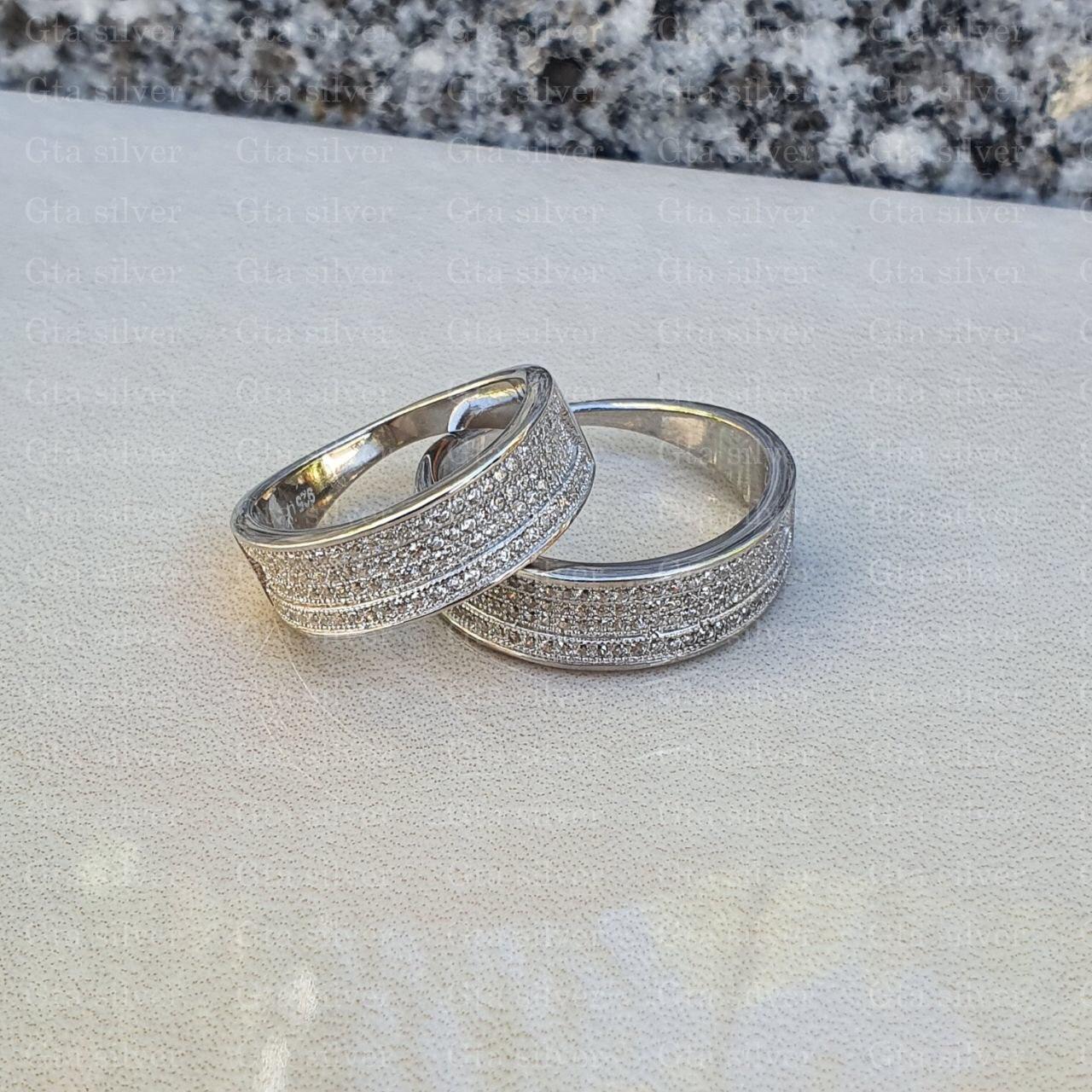 ست حلقه ازدواج وزن 9.5 گرم مدل 7