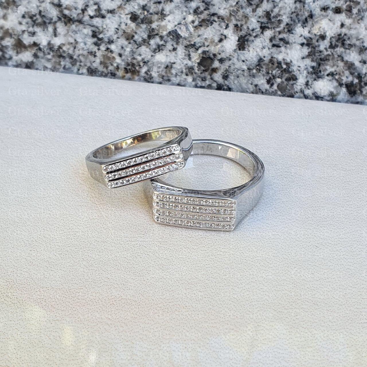 ست حلقه ازدواج وزن 9.5 گرم مدل 9