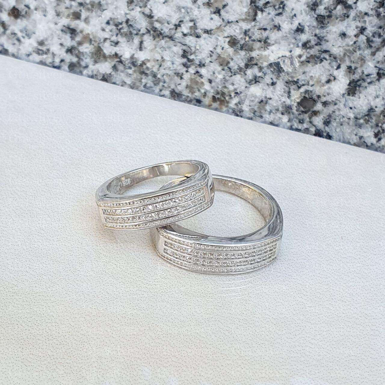 ست حلقه ازدواج وزن 9 گرم مدل 10
