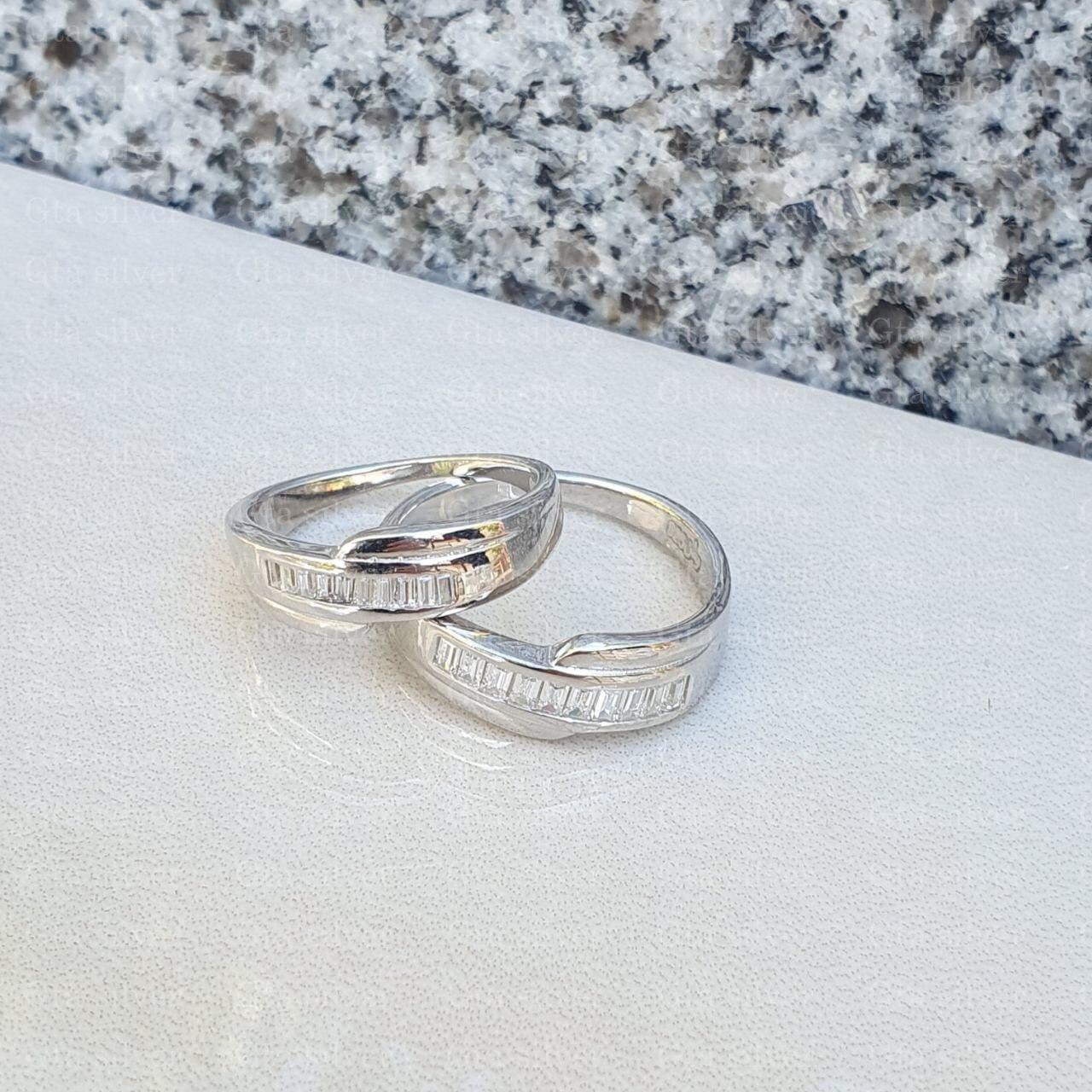 ست حلقه ازدواج وزن 6.5 گرم مدل 11