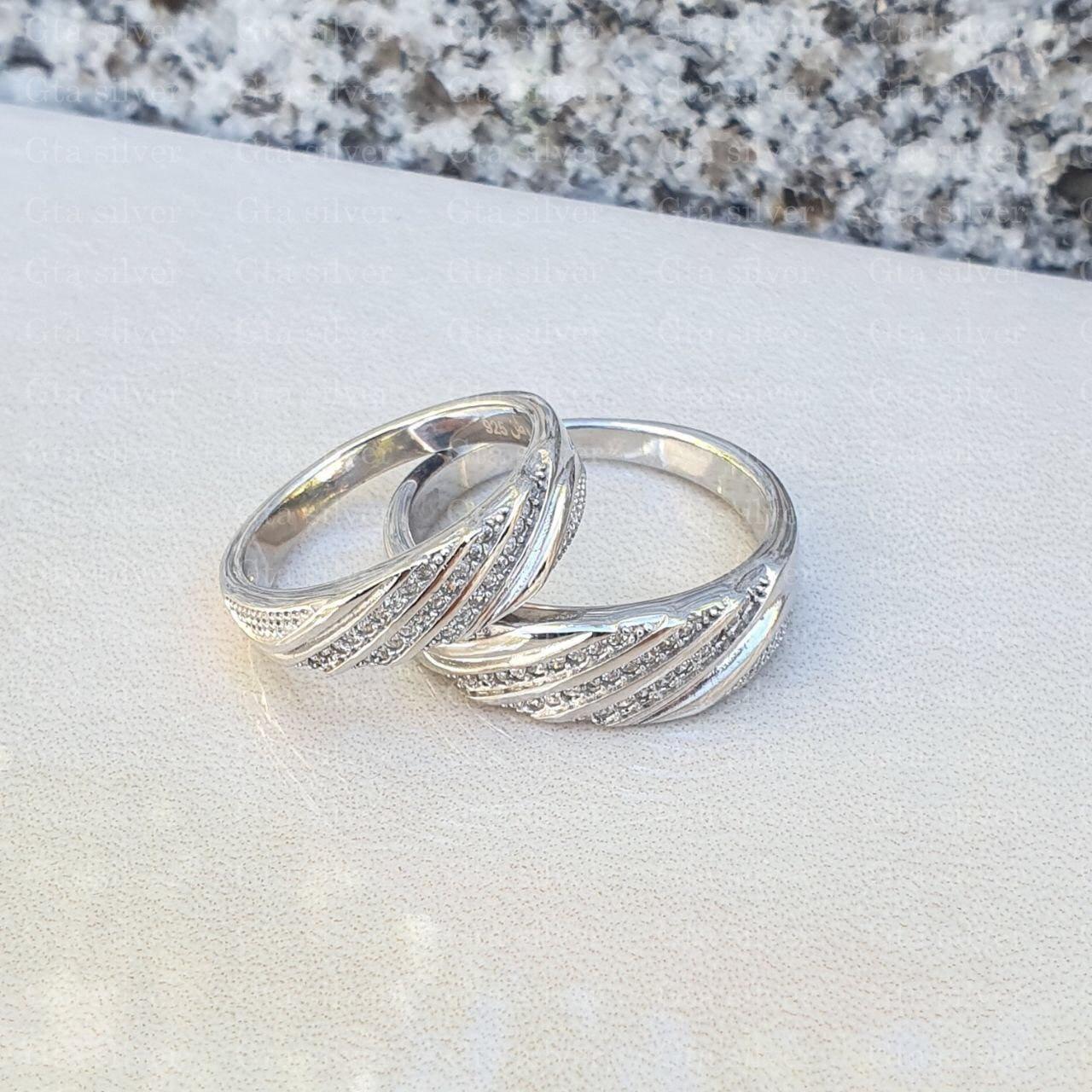 ست حلقه ازدواج وزن 8.5 گرم مدل 12