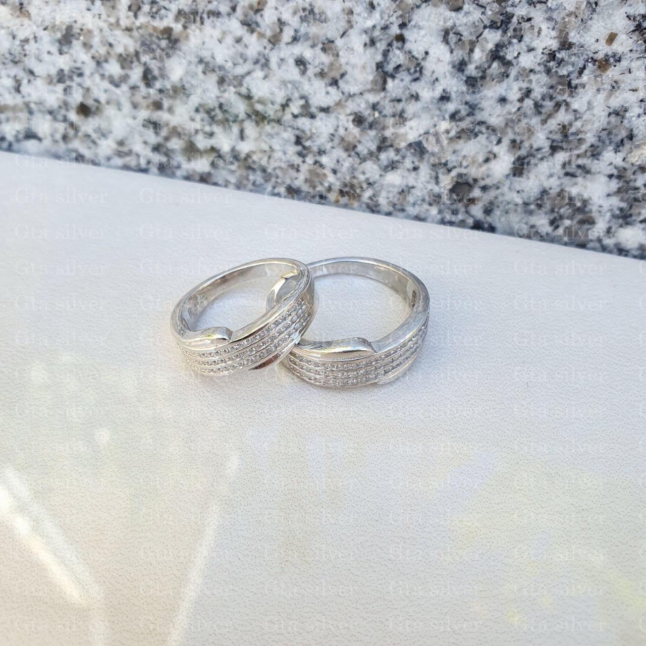 ست حلقه ازدواج وزن 8.5 گرم مدل 13