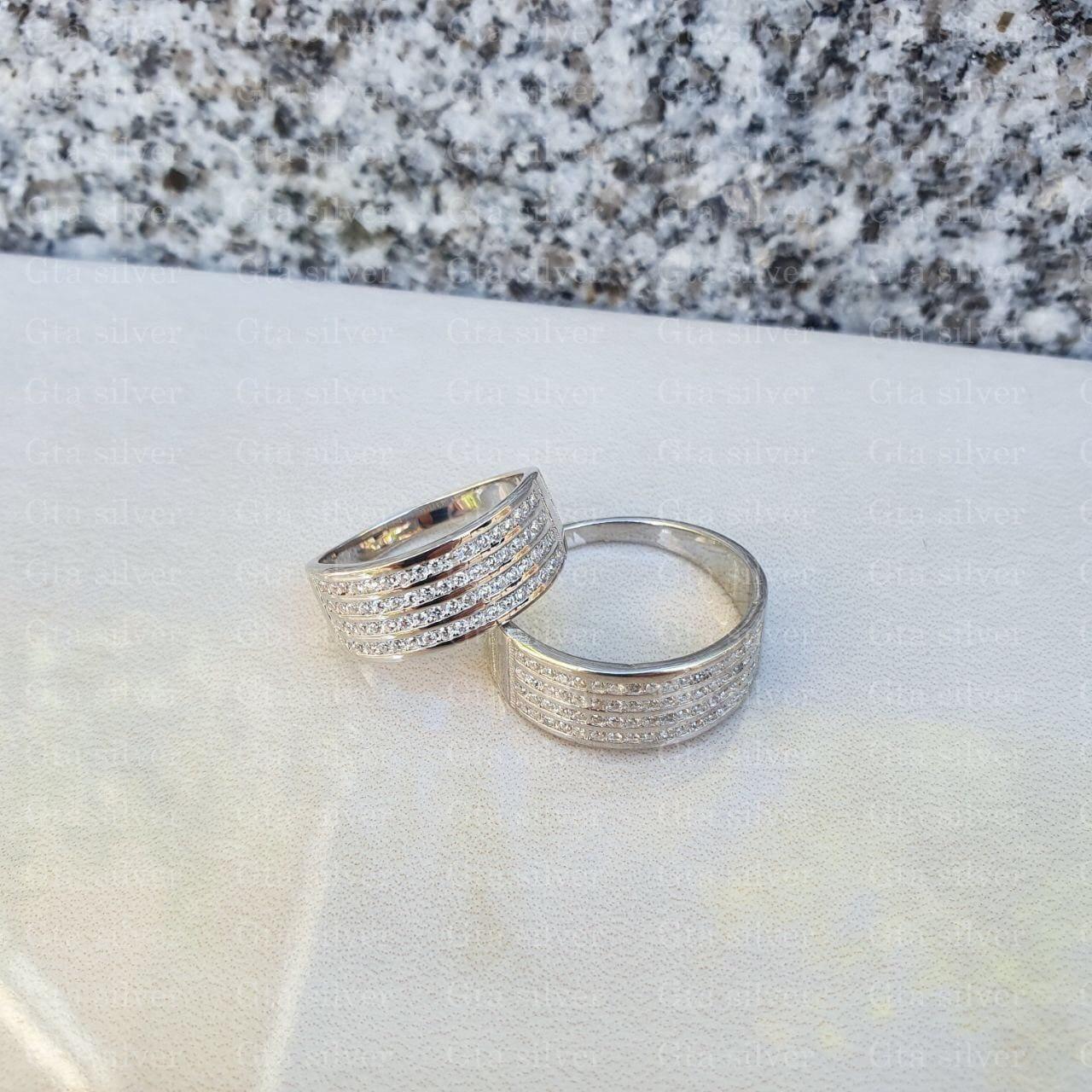 ست حلقه ازدواج وزن 9.5 گرم مدل 15