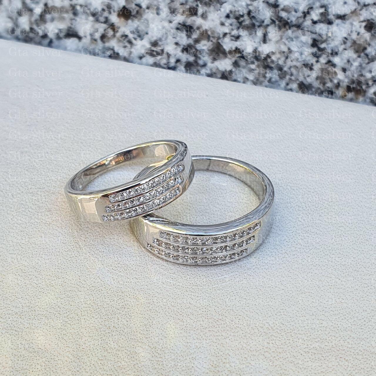 ست حلقه ازدواج وزن 8.5 گرم مدل 18