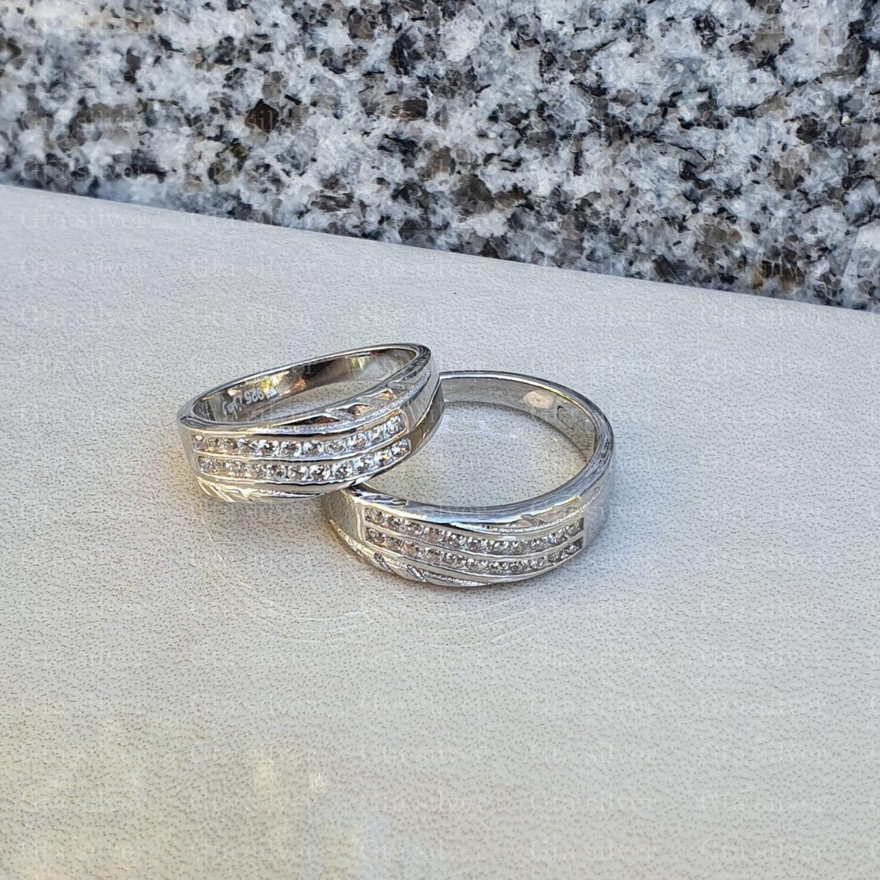 ست حلقه ازدواج وزن 7.5 گرم مدل 19