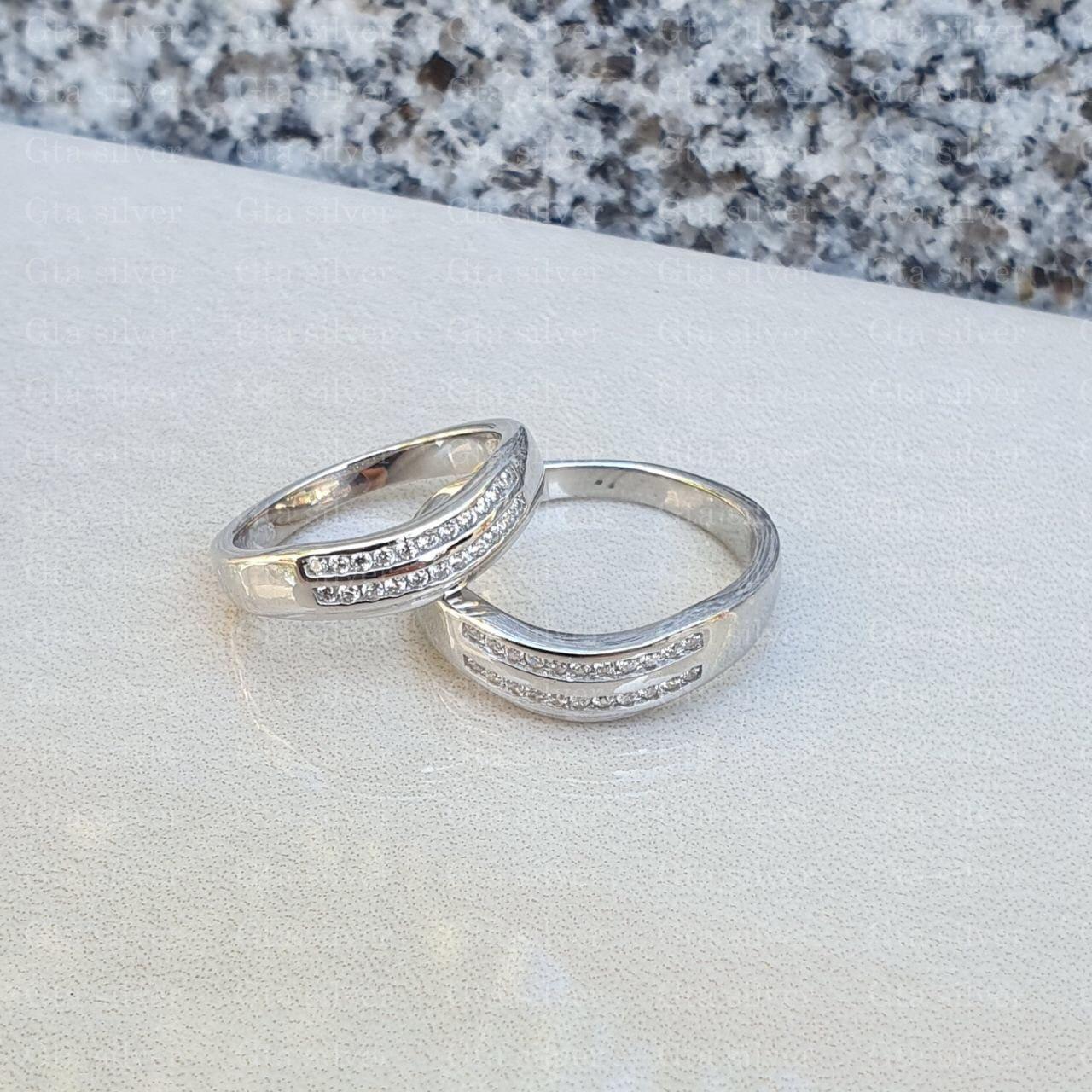 ست حلقه ازدواج وزن 8 گرم مدل 20
