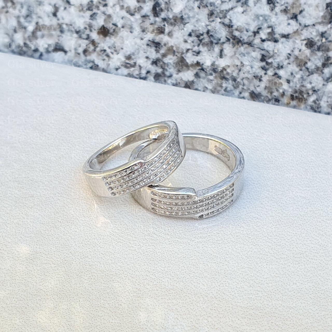 ست حلقه ازدواج وزن 9 گرم مدل 22
