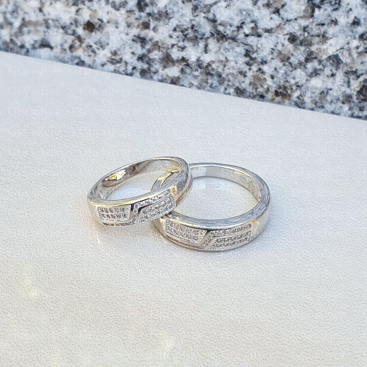 ست حلقه ازدواج وزن 7.5 گرم مدل 23