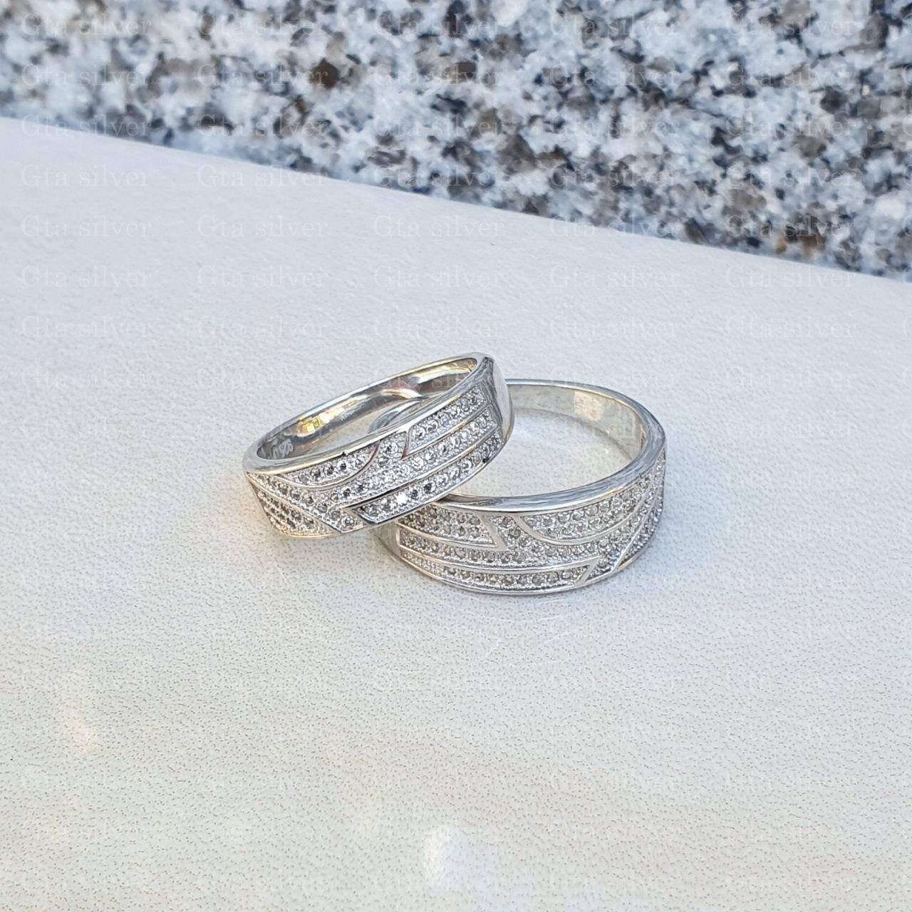 ست حلقه ازدواج وزن 8.5 گرم مدل 24
