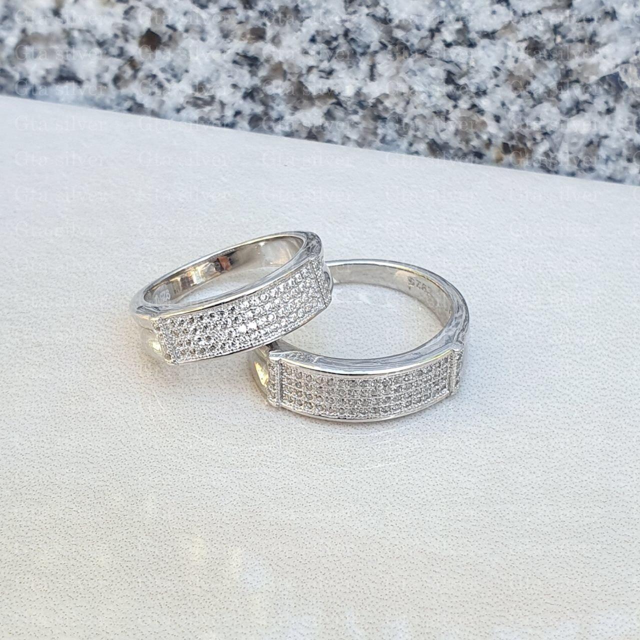 ست حلقه ازدواج وزن 8.5 گرم مدل 26