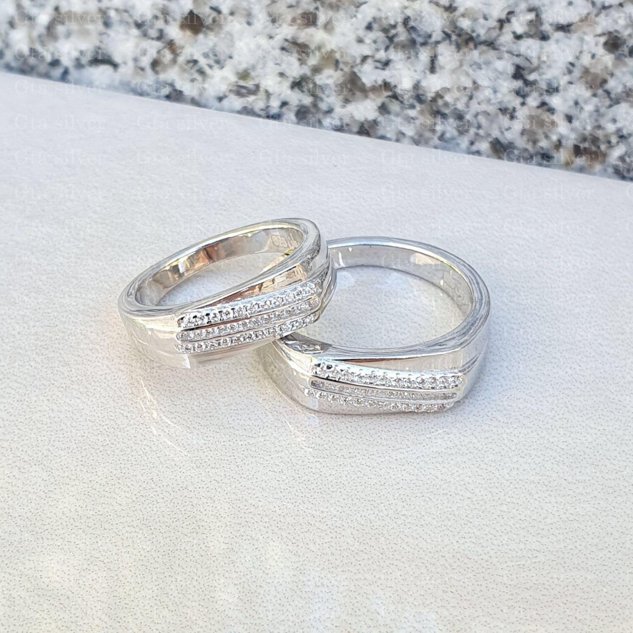 ست حلقه ازدواج وزن 10.5 گرم مدل 31