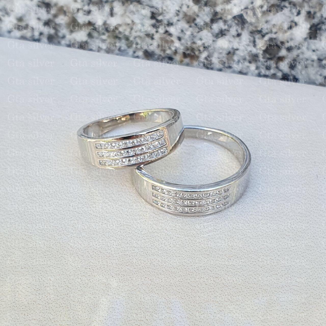 ست حلقه ازدواج وزن 8 گرم مدل 34