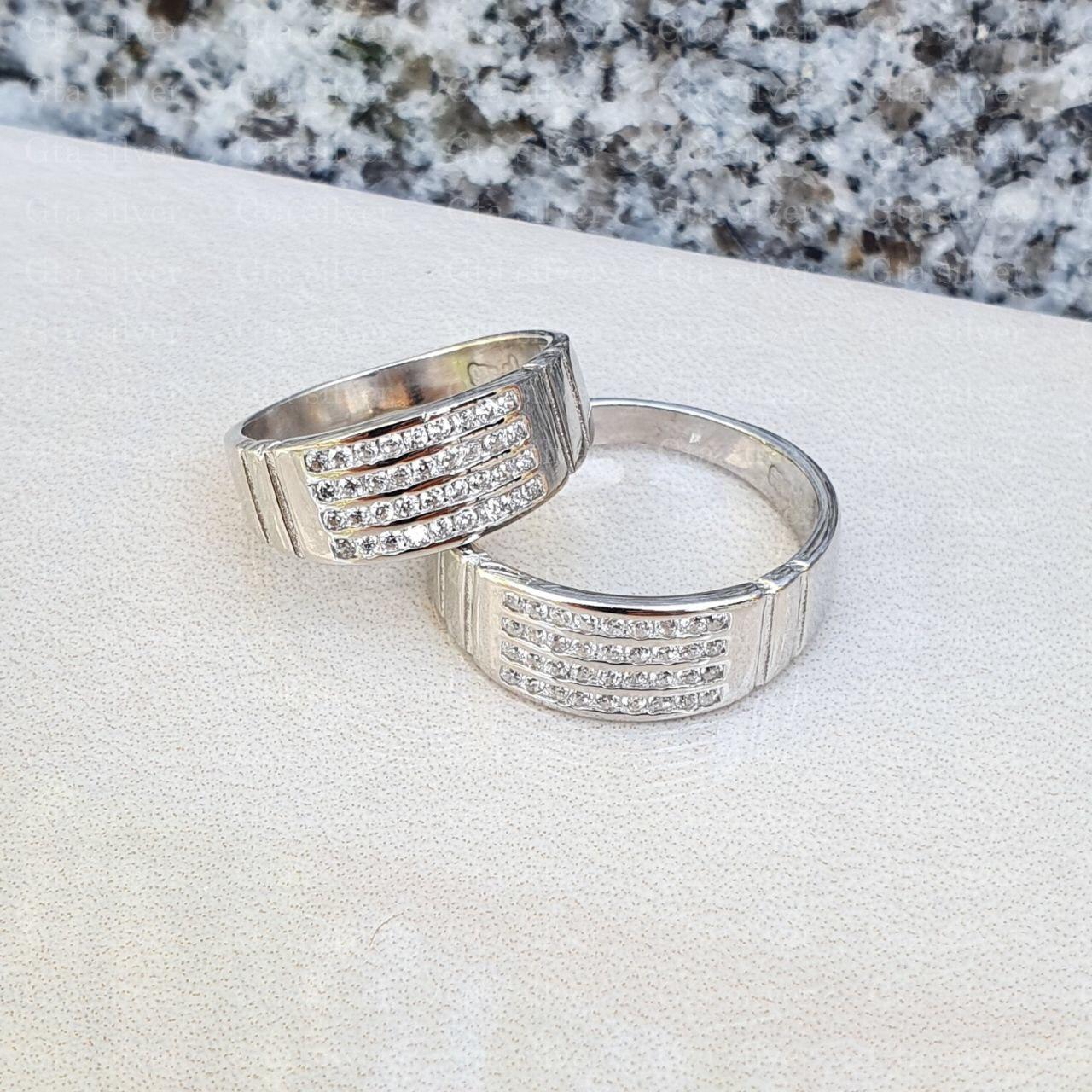 ست حلقه ازدواج وزن 7.5 گرم مدل 36