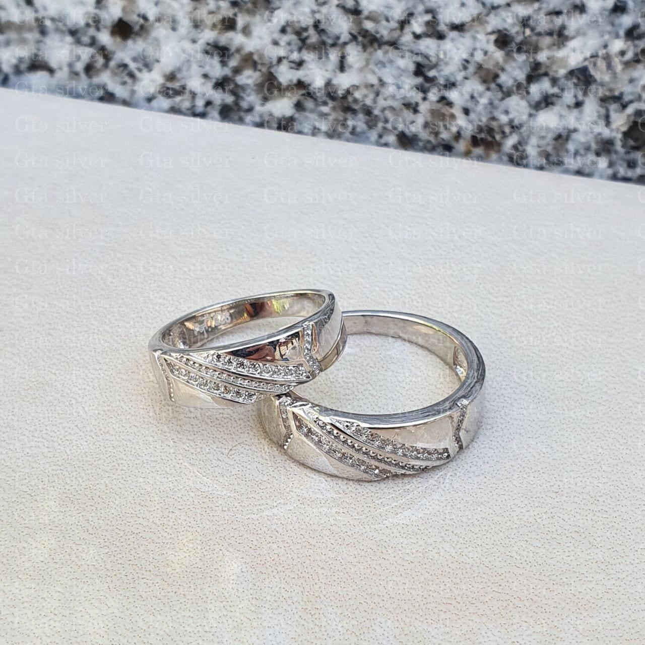 ست حلقه ازدواج وزن 7 گرم مدل 37