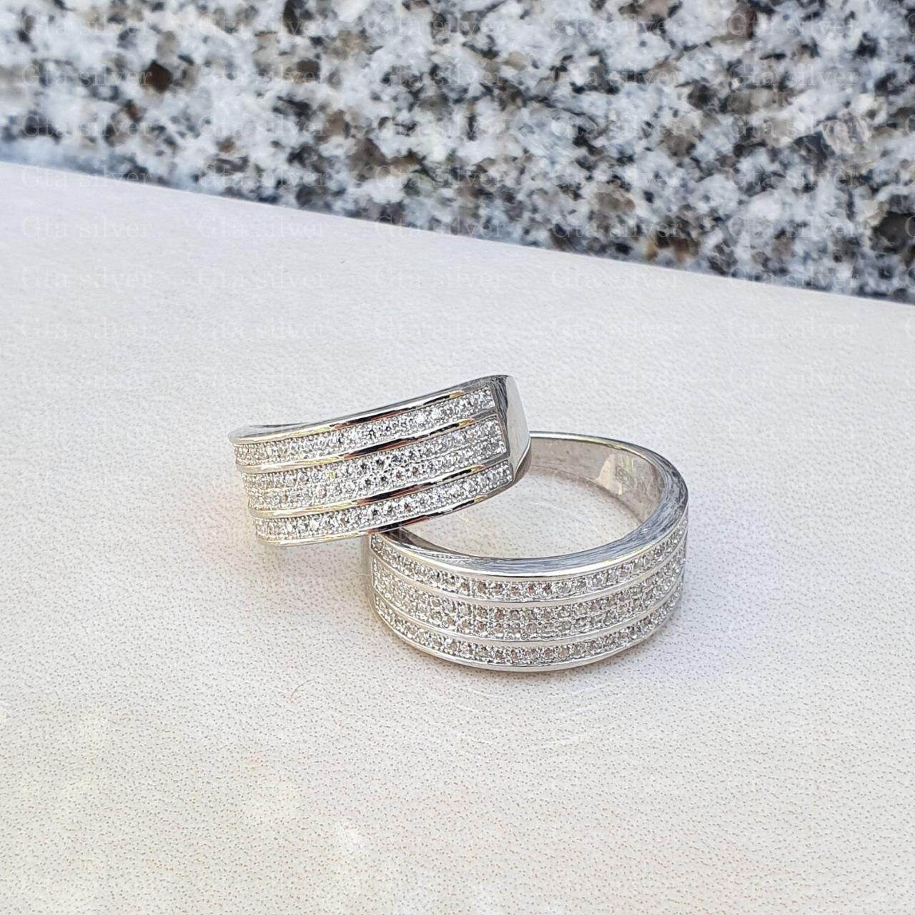 ست حلقه ازدواج وزن 10.5 گرم مدل 39