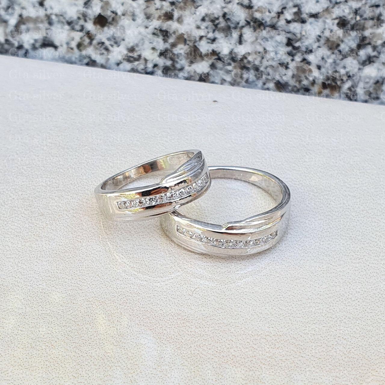 ست حلقه ازدواج وزن 6.5 گرم مدل 41