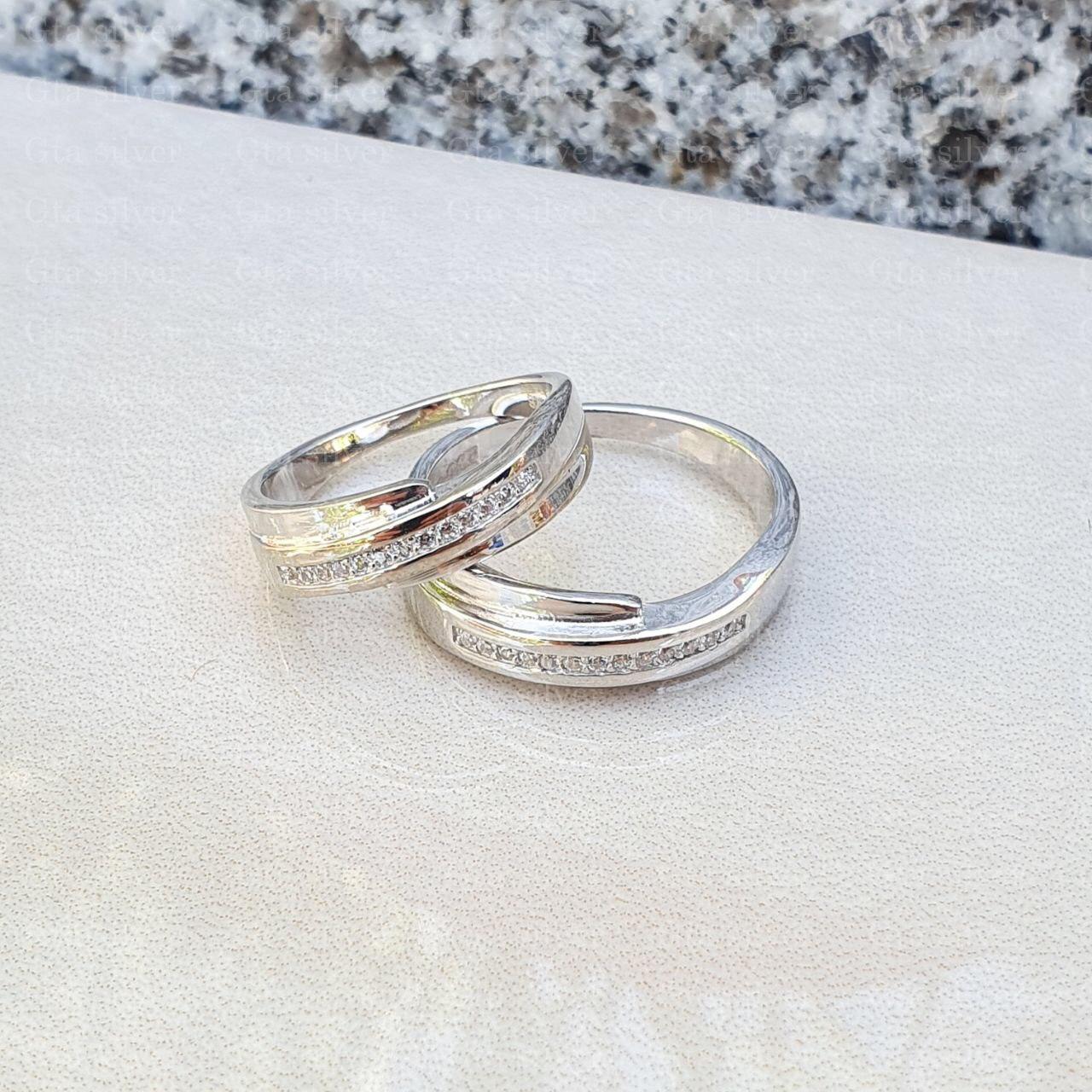 ست حلقه ازدواج وزن 8 گرم مدل 42