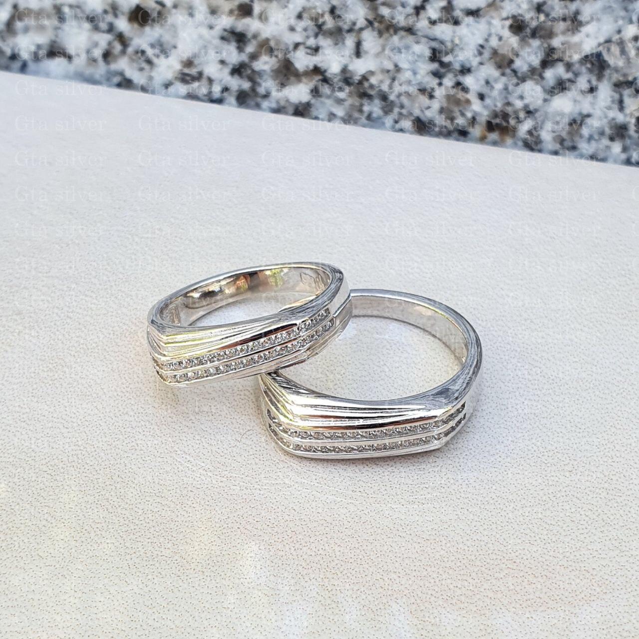 ست حلقه ازدواج وزن 9.5 گرم مدل 43